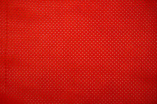 BARKERS LEATHERCRAFT HIDE & SKINS Perforated suede calfskin leather Red H266S