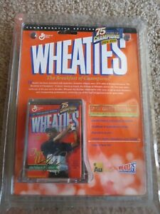 TIGER WOODS COMMEMORATIVE EDITION MINI WHEATIES 75 YEARS GOLD 24K SIGNATURE NEW