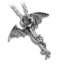 Game of Thrones Dragon & Valyrian Steel Sword Necklace Daenerys Targaryen Drogon