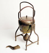 Antique Brass Kettle on Tilting stand wick burner