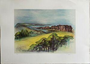 Sandra Tenconi litografia Provenza France  50x70 firmata numerata edizioni Bora