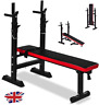 Adjustable Folding Weight Bench Barbell Dip Station Flat Sit Up Workout Exercise