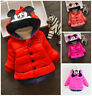 1pc Toddler Kids baby girls fleece jacket thick winter warm hoodie coat cartoon