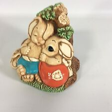 Woodlander Pendelfin Rabbit Figurine Mereside England Stoneware Bunny Babes Vtg