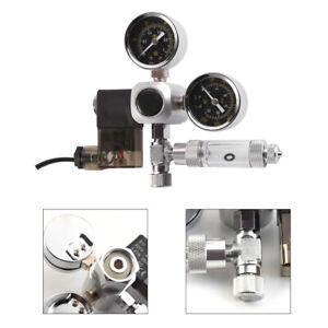 CO2 Rückschlagventil Druckminderer Regler Aquarium Magnetventil mit 2 Manometer