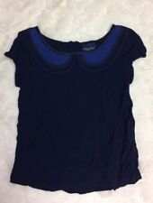 NWOT American Eagle Outfitters Short Sleeve Crinkle Blue Blouse Casual