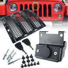 Grills Smart Lock Hood Catch Anti-Theft Security Lock for Jeep Wrangler JL 18-19