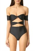 6 Shore Road By Pooja Black Wanderlust Cut Out Keyhole One Piece Swimsuit Size S
