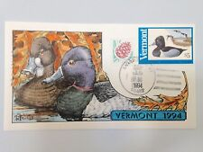 COLLINS H/P FDC 1994 VERMONT MILFORD DUCK - RARE