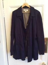 MARNI for H&M szM 100% Cotton Navy Blue 3/4 Jacket Side Pockets Knit Long Svs