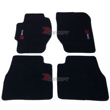 Promotion!! 98-02 Honda Accord Black Nylon Floor Mats Carpets Type R Embroidered