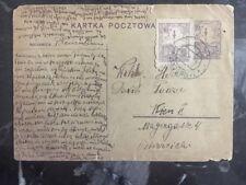 1928 Sandomierz Poland Postcard Cover Uprated To Vienna Austria