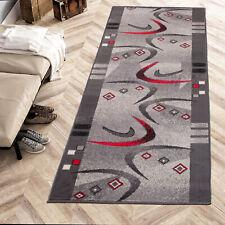 Läufer Grau Modern Designer Teppich Korridor Meterware Küche Flur - Wunschlänge
