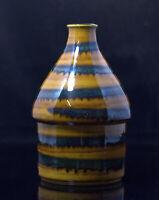 Mid Century WGP 1121 Seltene Keramikvase seltene Laufglasur lüstriert RARE VASE