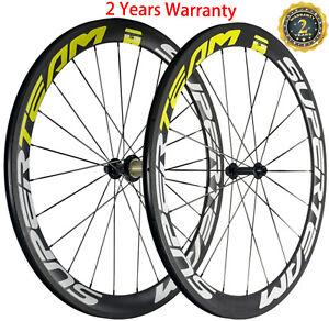 700C Road Bike Wheels 50mm 23mm Clincher Carbon Wheelset 3K Matte Basalt Brake
