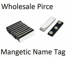 Magnetic Name Badge Backing - Name Tag Faster with Adhesive Magnet Holder Sets