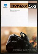 Kamera Reklame Prospekt MINOLTA DYNAX 5xi 5 xi Broschüre Werbung Werbeheft X2715