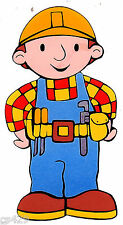 "10""  BOB THE BUILDER CHARACTER  WALL STICKER GLOSSY BORDER  CUT OUT"