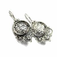 Flower of Life Mandala Earrings Sacred Geometry Yoga Jewelry STERLINGSILVER 925