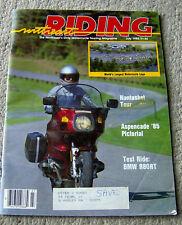 RARE vintage 1985 NORTHEAST RIDING motorcycle magazine Nantasket Apsencade biker