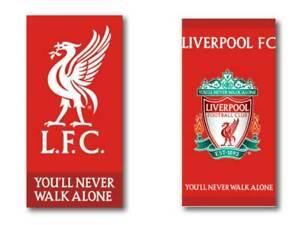 Liverpool Football Club LFC Beach Towel 2 designs Red Boys Girls Logo or Crest