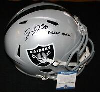 Josh Jacobs signed Full Size Speed Helmet, Raiders, Alabama, Beckett BAS