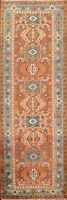"""Geometric Traditional Oriental Runner Rug Wool Hand-knotted Carpet 2' 7""""x8' 0"""""""
