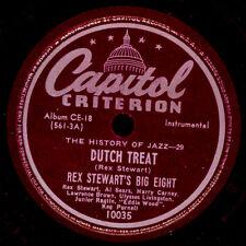 "REX STEWART'S BIG EIGHT ""History of Jazz"" Dutch Treat/ Rexercise   78rpm X3295"