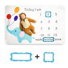 Monthly Milestone Baby Blanket, Month Blanket with Growth Tracker, Milestones