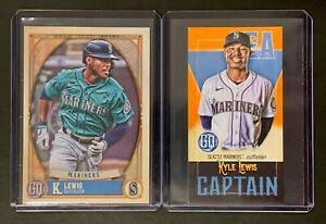 KYLE LEWIS   2021 Topps Gypsy Queen; 2 cards: #251 base + #CM-KL Captain Mini