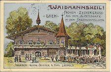 WIEN 2, Prater Jagdausstellung 1910 Alpendorf Waidmannsheil