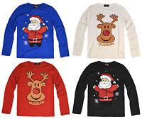 Girls Christmas Top Kids Xmas T Shirt Red Age 2 3 4 5 6 7 8 9 10 11 12 13 Years