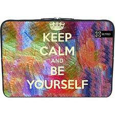 "Housse Neoprene PC Portable 15.6"" pouces - Keep Calm and Be Yourself - ref 941"