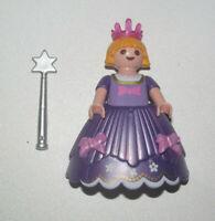Playmobil Figurine Personnage Enfant Princesse Robe Violette + Baguette NEUF