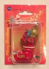 NIB Thomas Benacel Merry Christmas - London Red Stocking with Big Ben Ornament