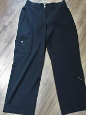 Zenergy by Chico's Black Polyester Spandex Cargo Pants Womens 1 X 28