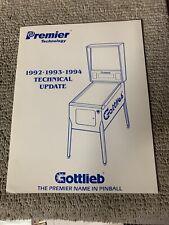 Technical Update 1992-94 Gottlieb Pinball Arcade  game manual