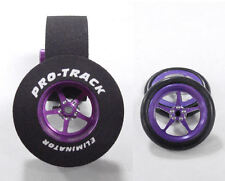 "Pro Track ""Pro Star Purple"" 1 3/16"" x .500 wd Rr & Ft Drag 1/24 Slot Car Tire"
