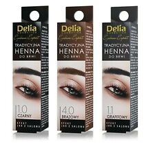 Delia Eyebrow Tint Powder Traditional Henna Black Brown Eyelash Tinting Dye 2g