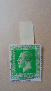 NEW ZEALAND 1925 Georg V 1/2 d green VFU MAJOR