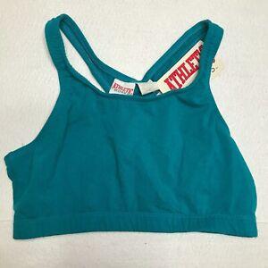 Vintage Athletic Works Womens Sports Bra Size Large Green Racerback Workout