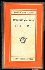 LETTERE KATHERINE MANSFIELD MEDUSA MONDADORI 1943