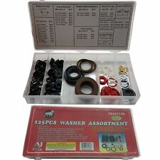 New 125 PC RUBBER & O-RING HOSE  FLAT WASHER AUTO GROMET ASSORTMENT SET