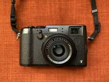 Fujifilm X100t black with leather case and hood