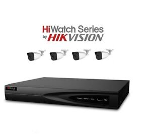 Hikvision Hiwatch CCTV HD 1080P NightVision Outdoor DVR Home Security System Kit