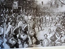 """Vintage Revolutionary War Poster - Continental Army - 23"""" x 36"""" 1975"""