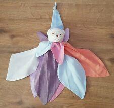 DOUDOU ours bonnet Takinou bleu rose orange blanc