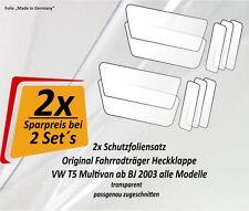 2x Pellicola Protettiva Set Risparmio PORTABICI radträger supporto post VW BUS BULLY t5 Set