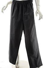 ESKANDAR Charcoal/Brown Wool Blend Pinstripe Pull Up Pant w/Pockets-Sz 1
