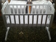 Kiddicare Baby Rocking Cot Swinging or Still Lock Crib with Mattress